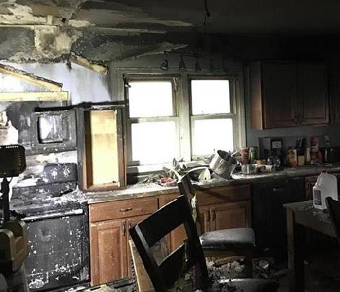 Fire Damaged Kitchen in Boynton Beach Before