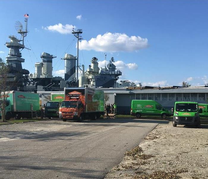 Storm Damage SERVPRO of Boynton Beach Leads the USS North Carolina Recovery After Hurricane Florence