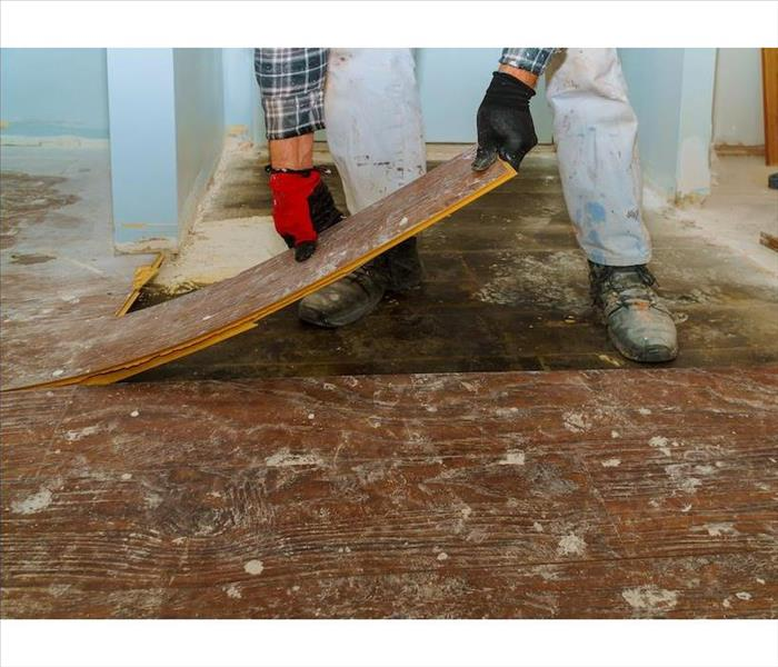 Removing wood flooring